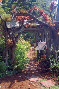 Brookgreen Gardens in Murrells Inlet, South Carolina, has a magical children's garden. Adults love it as much as children do! It's an unbelievably creative place, changing with each season!!