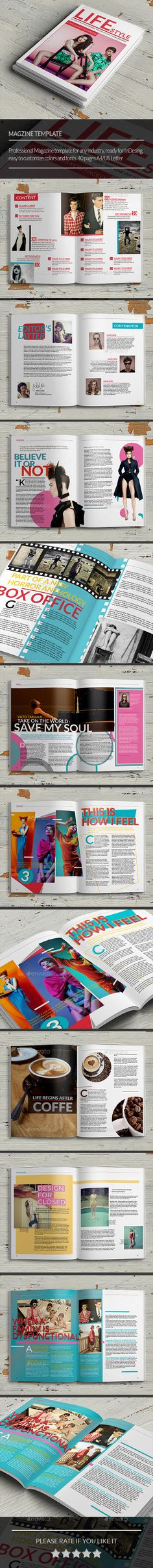 Multipurpose Magazine Template by siomipan  Multipurpose Magazine TemplateThis is a professional and clean grunge InDesign magazine template that can be used for any type o