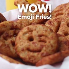 Play With Your Food And Make These Emoji Fries Emoji Fries I Love Food, Good Food, Yummy Food, Tasty Videos, Food Videos, Creative Food, Food Hacks, Food To Make, Dessert Recipes