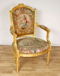 A Nine Piece Louis Xvi Style Giltwood And Tapestry Suite | From A Unique  Collection Of