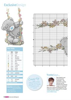 In Full Swing (Tatty Teddy) From Cross Stitch Crazy N°2013 March 2016 3 of 4