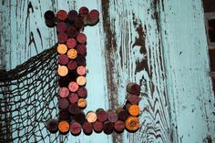 CUSTOM Wine Cork Letters Just Click on This por beachcottagelane