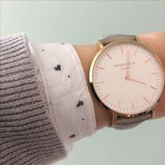 Rosefield watch & grey sweater