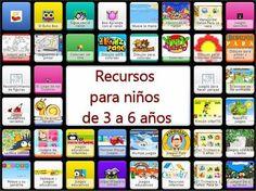 RECURSOS PARA 3 A 6 AÑOS Apps, Grammar Games, Online Logo, Everyday Activities, Teaching Kids, Preschool, Classroom, Teacher, Learning