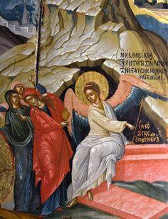 Jesus Resurrection, Orthodox Icons, Religious Art, Vignettes, Madonna, Catholic, Painting, Angels, Easter