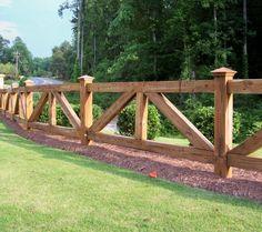 Custom wood ranch rail / horse fence | Mossy Oak Fence Company, Orlando & Melbourne, FL