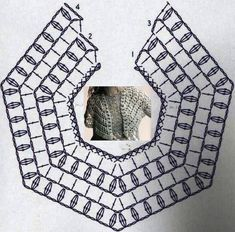 Crochet Pattern For Baby Christening Dress Dresses Fashion City Ballymount!crochet round neck yoke chart for all sizes from baby to an adult woman?Raglan crochet diagram/chart T Poncho Crochet, Bonnet Crochet, Mode Crochet, Crochet Shawls And Wraps, Crochet Collar, Crochet Scarves, Crochet Clothes, Lace Collar, Crochet Diagram