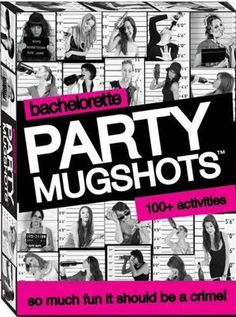 Bachelorette Party Mugshots Game Party Mugshots Take turns at the bachelorette party by completing mugshot dares and documenting them with memorable photos. Wild Bachelorette Party, Bachlorette Party, Bachelorette Weekend, Bachelorette Parties, Sleepover Party, Party Prizes, Party Games, Divorce Party, Lingerie Party