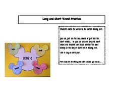 This is a simple activity where students match the words to the correct Mickey ears.  Included are Mickey mats for the short and long vowels. F...