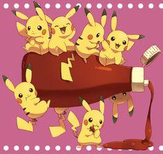 ^ ♡ Kudos to whoever made this fan art Pikachu Raichu, Pikachu Art, Cute Pikachu, Cute Pokemon, Pikachu Tattoo, Pikachu Ketchup, Pokemon Rumble Blast, Pikachu Drawing, Powerful Pokemon