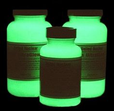 How To Make Your Own - DIY Glow In The Dark Paint i wonder if  you could paint stepping stones so the glowed at night