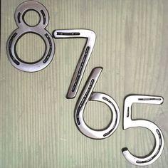 HORSESHOE HOUSE NUMBERS metal address sign by BlacksmithCreations