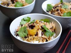 I need to try these - they look amazing.  Sweet Chili Chicken Bowls - Budget Bytes
