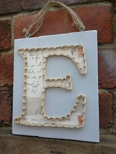 Letter E nail string art Nail String Art, Letter E, Craft Ideas, Babies, Frame, Crafts, Home Decor, Babys, Picture Frame