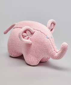 Look what I found on #zulily! Zubels Pink Eleanor the Elephant Hand-Knit Rattle by Zubels #zulilyfinds