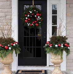 Just think of it as an entrance to a place our Lord wants you to go to. Doors adorned with Christmas garlands, ribbons with laces of gold, glittering snowflakes and bells are always inviting, alway...