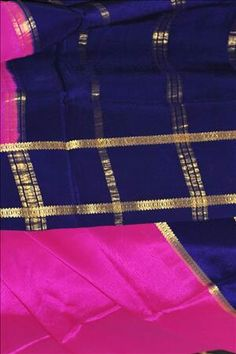 One common combination in Mysore silk! Soothing hot pink it is!