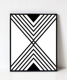 Chevron Wall Art, 3d Wall Art, Geometric Wall Art, Modern Wall Art, Geometric Shapes, Geometric Graphic, Geometric Designs, Graphic Art, Symmetrical Balance