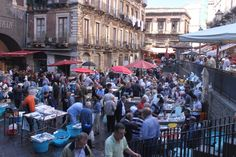 Fish market in Catania, Sicily