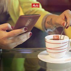 A #horadocafé fica mais gostosa com um café Melitta bem quentinho (: