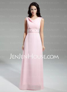 Mother of the Bride Dresses - $200.00 - A-Line/Princess Cowl Neck Floor-Length Chiffon Charmeuse Mother of the Bride Dresses With Beading (008014943) http://jenjenhouse.com/A-line-Princess-Cowl-Neck-Floor-length-Chiffon-Charmeuse-Mother-Of-The-Bride-Dresses-With-Beading-008014943-g14943