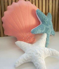 Seaside pillows are perfect for any mermaid or anyone that needs a bit of magic in their home.