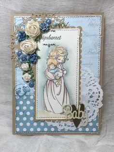 Lene'S Stempelkrok: Til dåpsbarnet Distress Ink, I Card, Paper, Frame, Projects, Home Decor, Picture Frame, Log Projects, Blue Prints