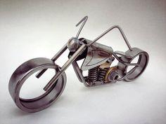 Metal Art Motorcycle by TheDaRkMetalArtStore on Etsy, $150.00