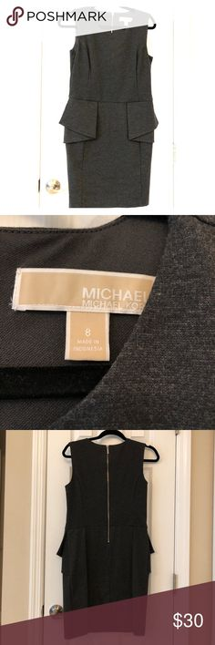 Michael Kors Dress Michael Kors Dress color Gray with zippered back dress worn twice MICHAEL Michael Kors Dresses