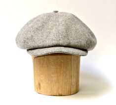 Men's Newsboy Hat in Vintage Gray Wool by HatsWithAPast on Etsy, $75.00