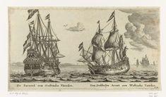 De schepen De Parel en De Dubbele Arend, Reinier Nooms, 1652 - 1654