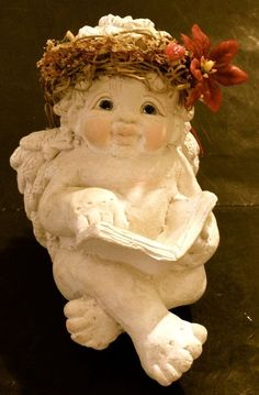CAST ART INDUSTRIES INC DREAMSICLES READING A BOOK ANGEL FIGURINE  #Dreamsicles #Figurine