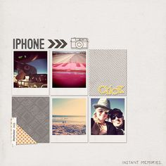 Great layout with Instant Photo papers & elements by three paper peonies on oscraps.com