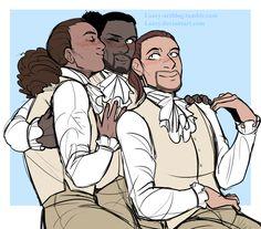 Hamilton, Laurens, and Lafayette.