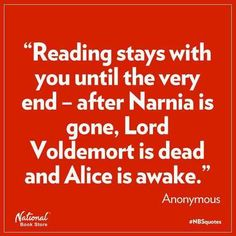 So true about reading.