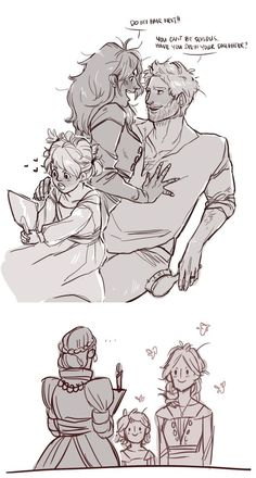 Cullen x Inquisitor - Doing hair? So cute!: