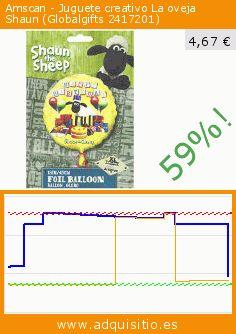 Amscan - Juguete creativo La oveja Shaun (Globalgifts 2417201) (Juguete). Baja 58.818342151675%! Precio actual 4,67 €, el precio anterior fue de 11,34 €. https://www.adquisitio.es/amscan/juguete-creativo-oveja