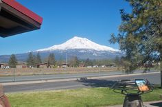Mt Shasta on one of our drives from Oregon through California