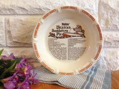 1983 Watkins Mexican Sombrero Pie Plate by LittleDixieVintage