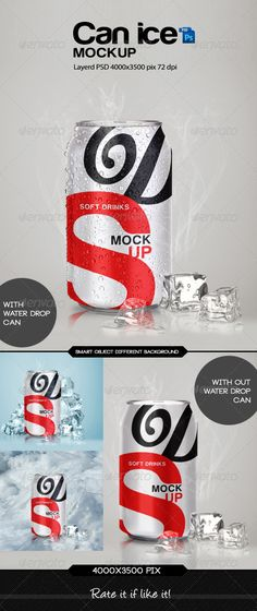 Can Ice Mock-Up - Food and Drink Packaging