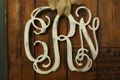 18 Distressed Wood Vine Monogram wreath Shabby by PaperJackStudio, $52.00
