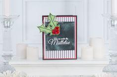 Mistletoe Kiss | Fun Stampers Journey| Holiday Mini Catalog | Chalkboard look