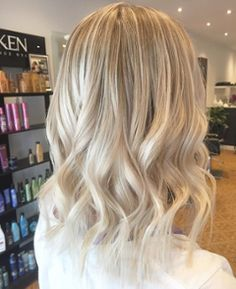 This example of a brighter, softer tone is another blonde option in winter hair colors.