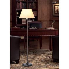 Robert Abbey Victorian Bronze Swing Arm Floor Lamp