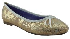 Stylish neutral ballet flat shoes with delicate gold enhancement. Now available at www,shoefun.com.au