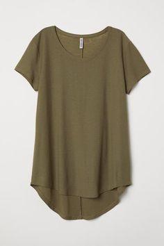 H&M Jersey Crepe Top - Khaki green - Women Casual Outfits, Cute Outfits, Fashion Outfits, Fashion News, Fashion Online, Fashion 2015, Spring Fashion, Autumn Fashion, Fashion Trends