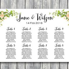 Free Night Light Wedding Chart Printable  Chart Template And Lights
