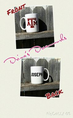 Personalized Coffee Mug $8 each Order yours at www.facebook.com/drinasdreamworks