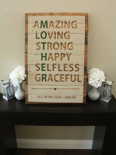 Reclaimed Wood Mother Sign