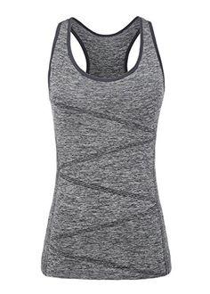 Disbest Gilet de Sport Haut T-Shirt sans Manches Débardeur Tech sans  Couture Stretchy Yoga. Sports tank TopsSports VestSupport ... 6b84c9d4df8c